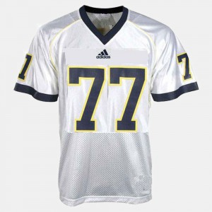 Men College Football Taylor Lewan Michigan Jersey White #77 882440-517