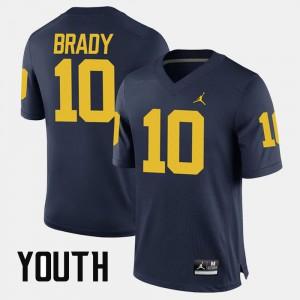 Navy Alumni Football Game Tom Brady Michigan Jersey #10 Youth(Kids) 639885-717