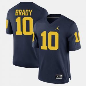Navy #10 Alumni Football Game Tom Brady Michigan Jersey For Men 506488-861