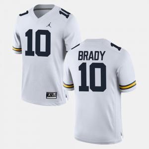Tom Brady Michigan Jersey #10 Alumni Football Game Mens White 190475-988