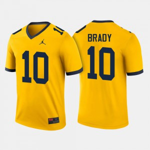 College Football #10 For Men's Tom Brady Michigan Jersey Maize 238042-469