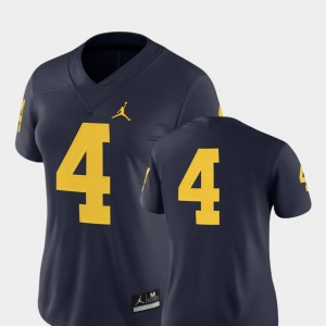 #4 College Football Navy 2018 Game Michigan Jersey For Women's 300921-530