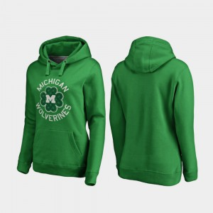 Ladies Kelly Green St. Patrick's Day Luck Tradition Michigan Hoodie 530206-530