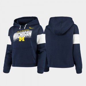 Women's Michigan Hoodie Navy Pullover Local 242796-528