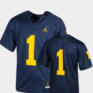 #1 Navy Youth Michigan Jersey Team Replica College Football 648557-486