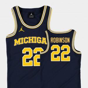 Navy For Kids Duncan Robinson Michigan Jersey Replica College Basketball Jordan #22 351189-518
