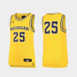 Michigan Jersey Maize Basketball Replica #25 For Kids 423258-901