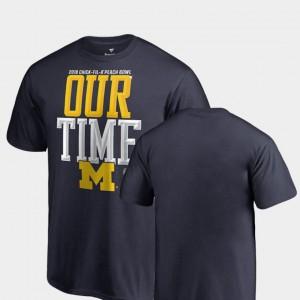Counter Michigan T-Shirt Youth(Kids) 2018 Peach Bowl Bound Navy 853179-114